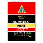 La boya más situada más al sur Key West del punto Tarjeta De Felicitación