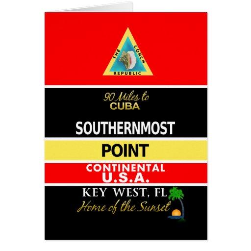 La boya más situada más al sur Key West del punto Tarjeton