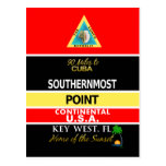 La boya más situada más al sur Key West del punto Tarjeta Postal