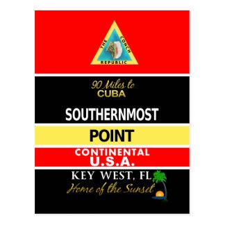 La boya más situada más al sur Key West del punto Tarjetas Postales
