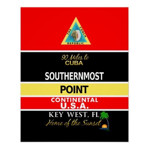 La boya más situada más al sur Key West del punto
