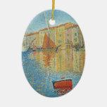 La boya roja de Paul Signac, Pointillism del Adorno De Reyes