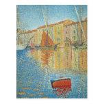 La boya roja de Paul Signac, Pointillism del Postal