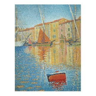 La boya roja de Paul Signac Pointillism del Postales