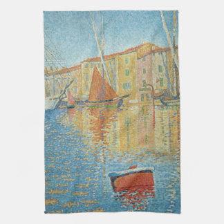 La boya roja de Paul Signac, Pointillism del Toalla De Cocina
