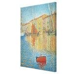 La boya roja de Paul Signac, Pointillism del vinta Impresión En Lona