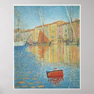 La boya roja, St Tropez, Paul Signac Posters