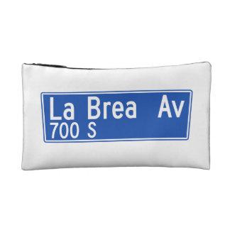 La Brea Avenue, Los Angeles, CA Street Sign Makeup Bags