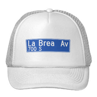 La Brea Avenue, Los Angeles, CA Street Sign Mesh Hats