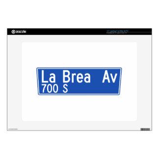 "La Brea Avenue, Los Angeles, CA Street Sign Decal For 15"" Laptop"