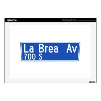 La Brea Avenue, Los Angeles, CA Street Sign Skins For Laptops