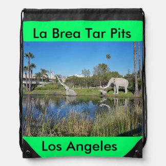 La Brea Tar Pits backpack Drawstring Backpacks