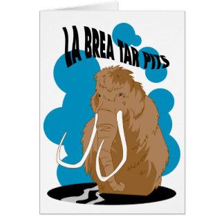 La Brea Tar Pits Mammoth Card