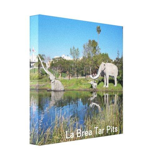 La Brea Tar Pits  Wall Canvas Canvas Prints