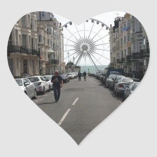 La Brighton rueda adentro Brighton, Reino Unido Pegatina En Forma De Corazón