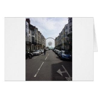 La Brighton rueda adentro Brighton, Reino Unido Tarjeta De Felicitación
