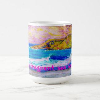 la brisa de mar fragante tazas de café