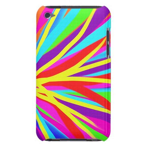 La brocha colorida viva frota ligeramente arte fem Case-Mate iPod touch fundas
