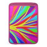 La brocha colorida viva frota ligeramente arte fem funda para macbook air