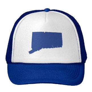 La broche azul fresca de Connecticut detrás enreda Gorras