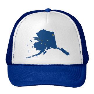 La broche del azul de Alaska detrás enreda el Gorros