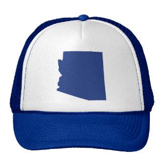 La broche del azul de Arizona detrás enreda el Gorra