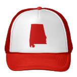 La broche del rojo de Alabama detrás enreda el Gorro De Camionero