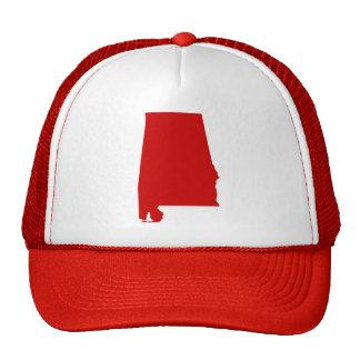 La broche del rojo de Alabama detrás enreda el Gorros