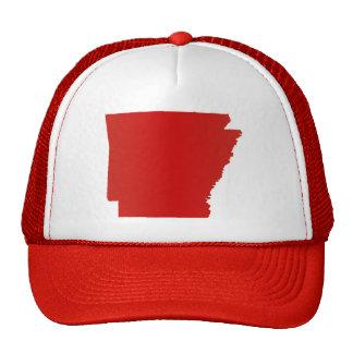 La broche del rojo de Arkansas detrás enreda el Gorras De Camionero