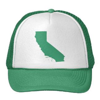La broche del verde de California detrás enreda el Gorras