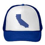 La broche fresca del azul de California detrás Gorro