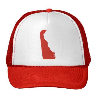 La broche roja del estado de Delaware detrás Gorro De Camionero
