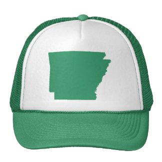 La broche verde del estado de Arkansas detrás Gorra