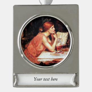 La bruja Circe con el libro de la poción Adornos Navideños Plateados