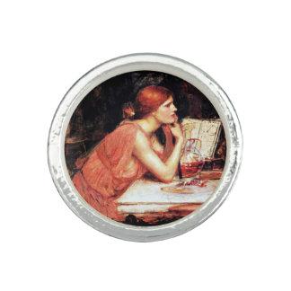 La bruja Circe con el libro de la poción Anillo Con Foto