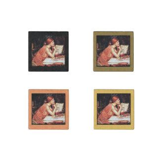 La bruja Circe con el libro de la poción Imán De Piedra