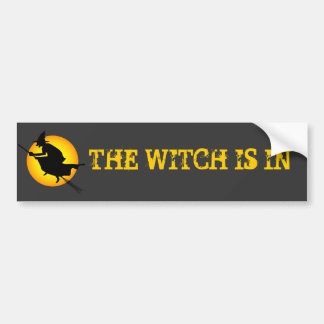 La bruja de Halloween está en pegatina para el par Pegatina Para Auto