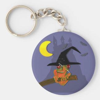 La bruja del Froggy echa un encanto Llavero Personalizado