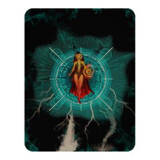 La bruja invitación 10,8 x 13,9 cm