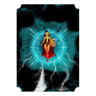 La bruja invitación 12,7 x 17,8 cm