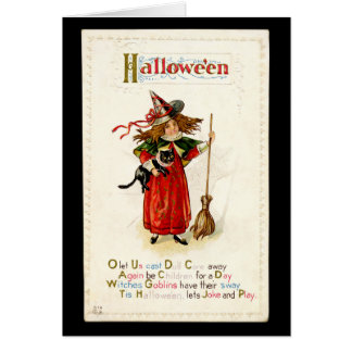 La bruja más pequeña - 1 - tarjeta de Halloween