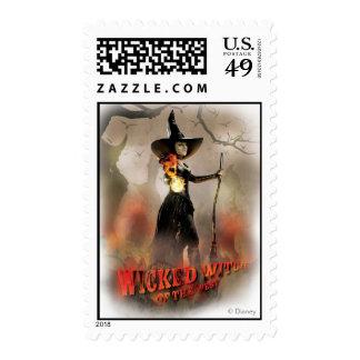 La bruja traviesa de los 6 del oeste sello postal