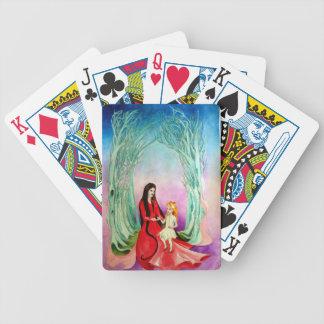 La bruja y el chica baraja cartas de poker