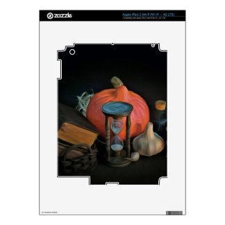 La brujería se opone en una tabla en un cuarto iPad 3 skin