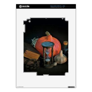 La brujería se opone en una tabla en un cuarto skins para iPad 2