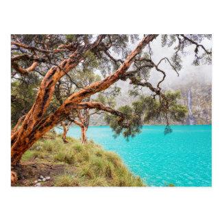 La bruma y el lago, Huaraz, Perú. Postal