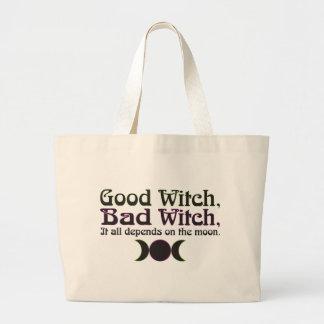 """La """"buena bruja, mala bruja… """"empaqueta bolsa tela grande"""