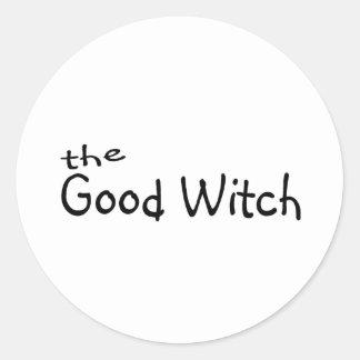 La buena bruja pegatina redonda