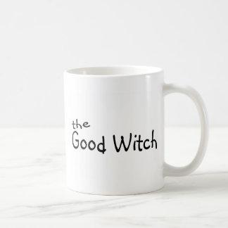 La buena bruja taza básica blanca