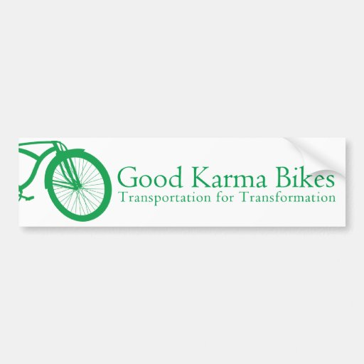 La buena karma Bikes a la pegatina para el paracho Etiqueta De Parachoque